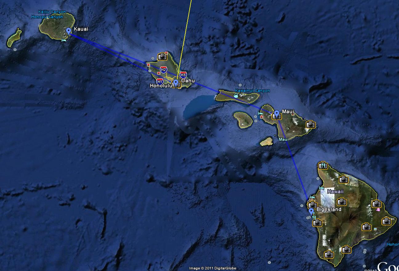 Cartina Mondo Hawaii.Hawaii Www Appuntidiviaggi Net